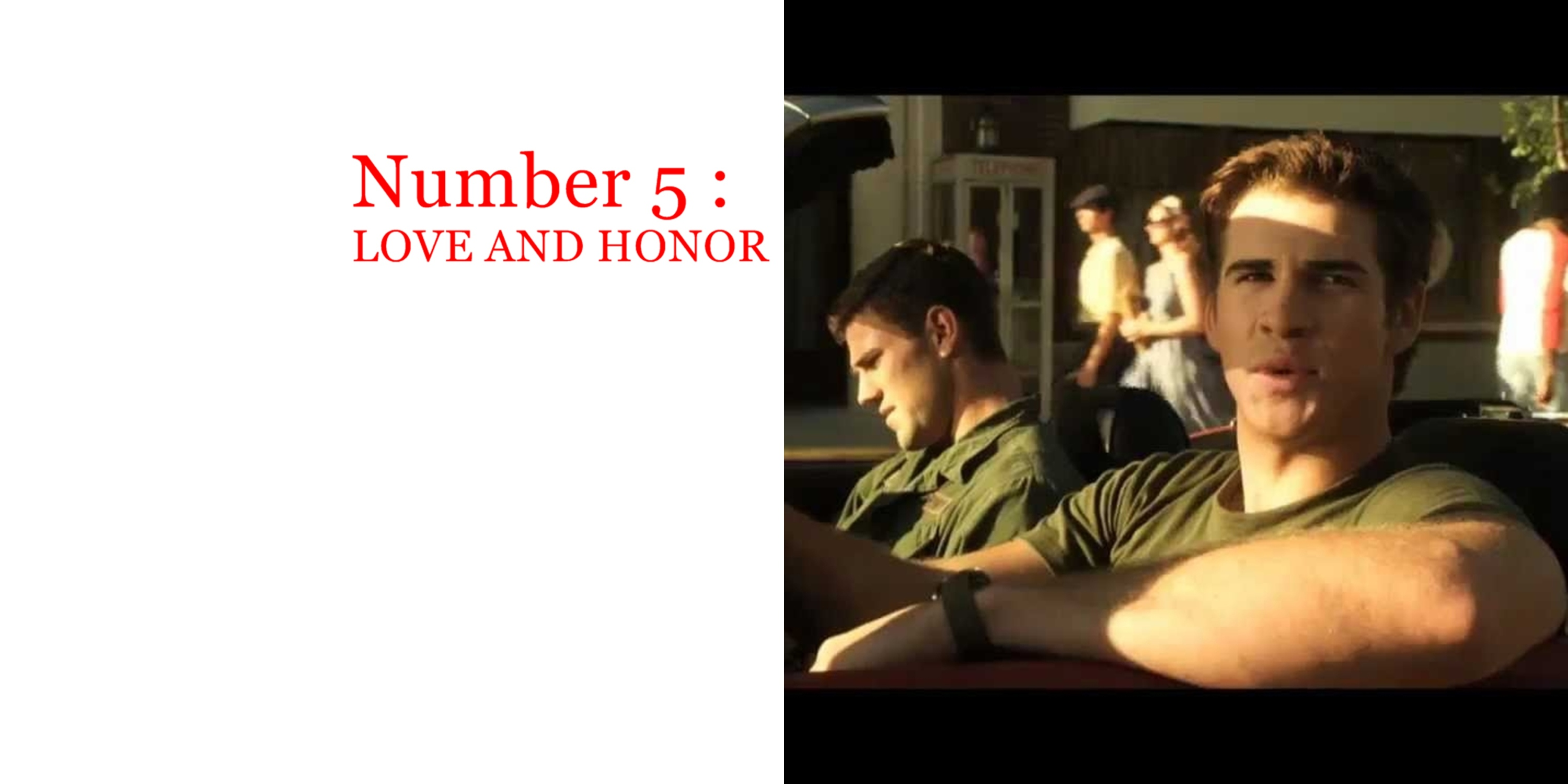 love and honor final